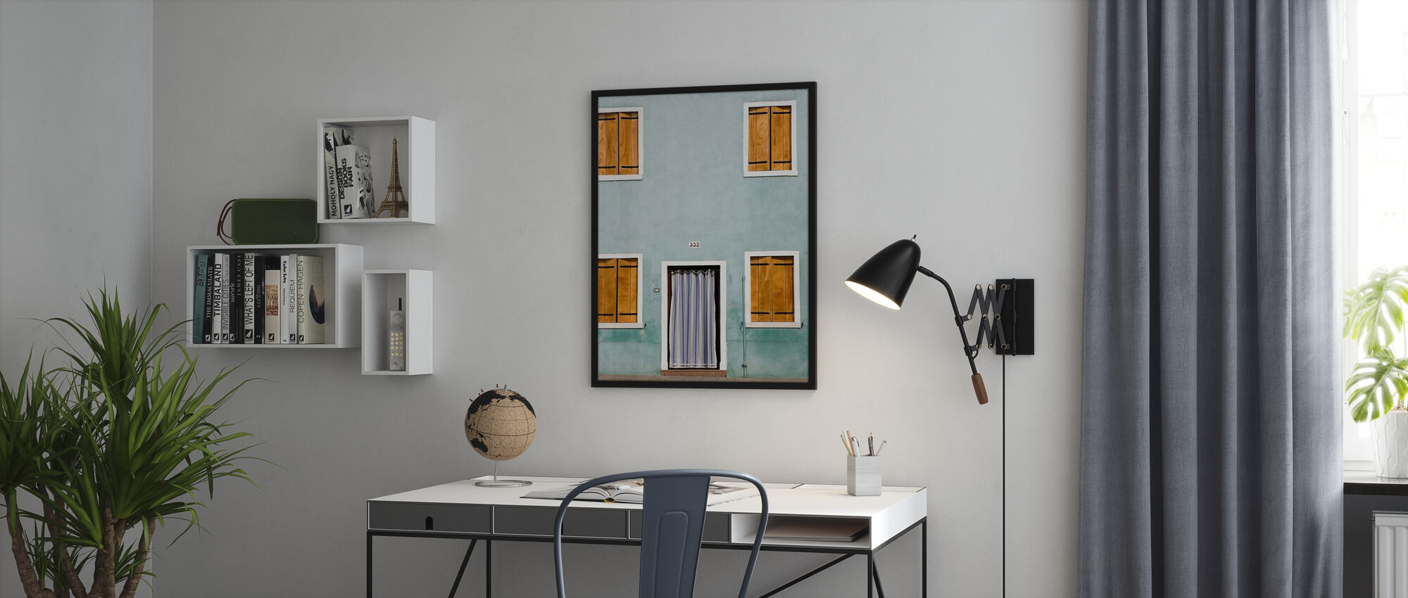 Facade with Closed Shutters - Poster - Office