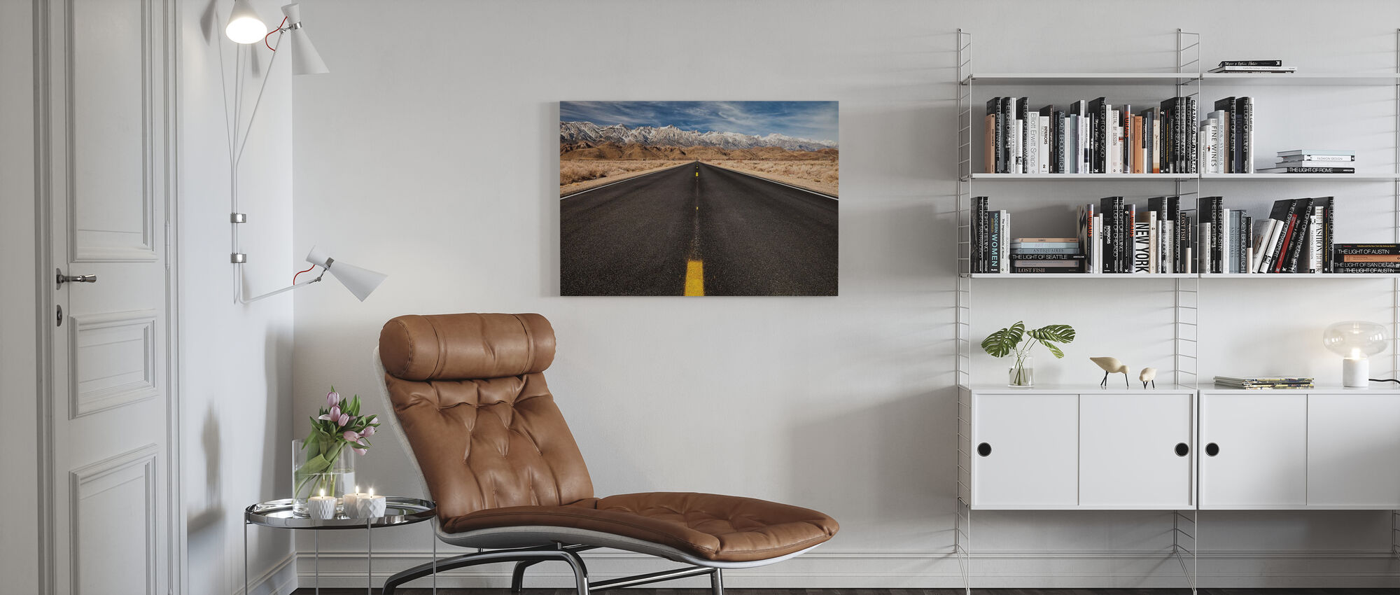 Rocky Mountain Road - Canvas print - Living Room