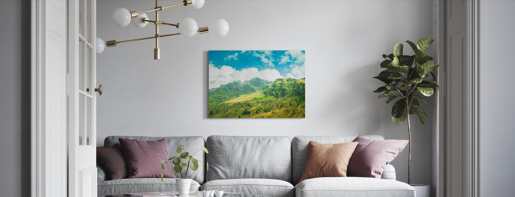 Chasing Space - Canvas print - Living Room