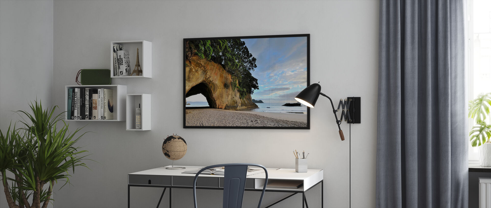 Rock Cave on the Beach - Poster - Office