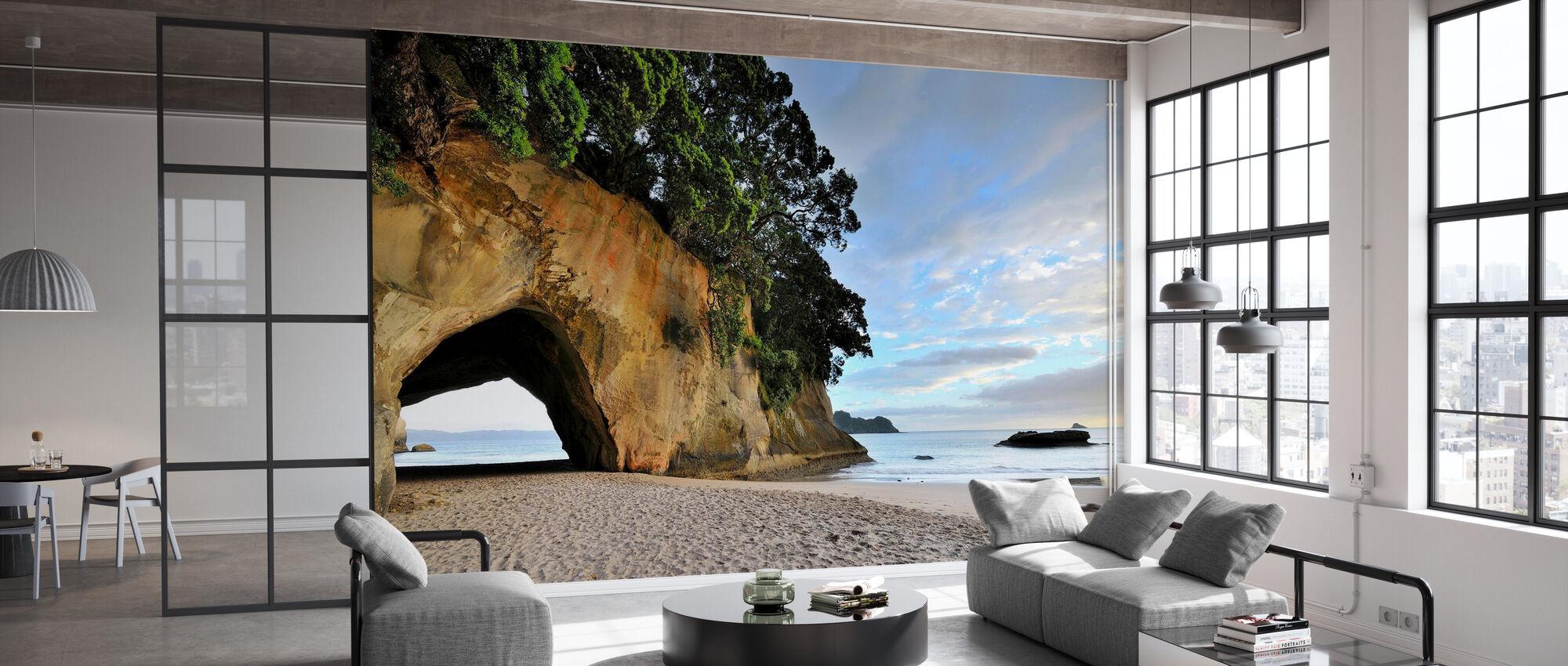 Rock Cave på stranden - Tapet - Kontor