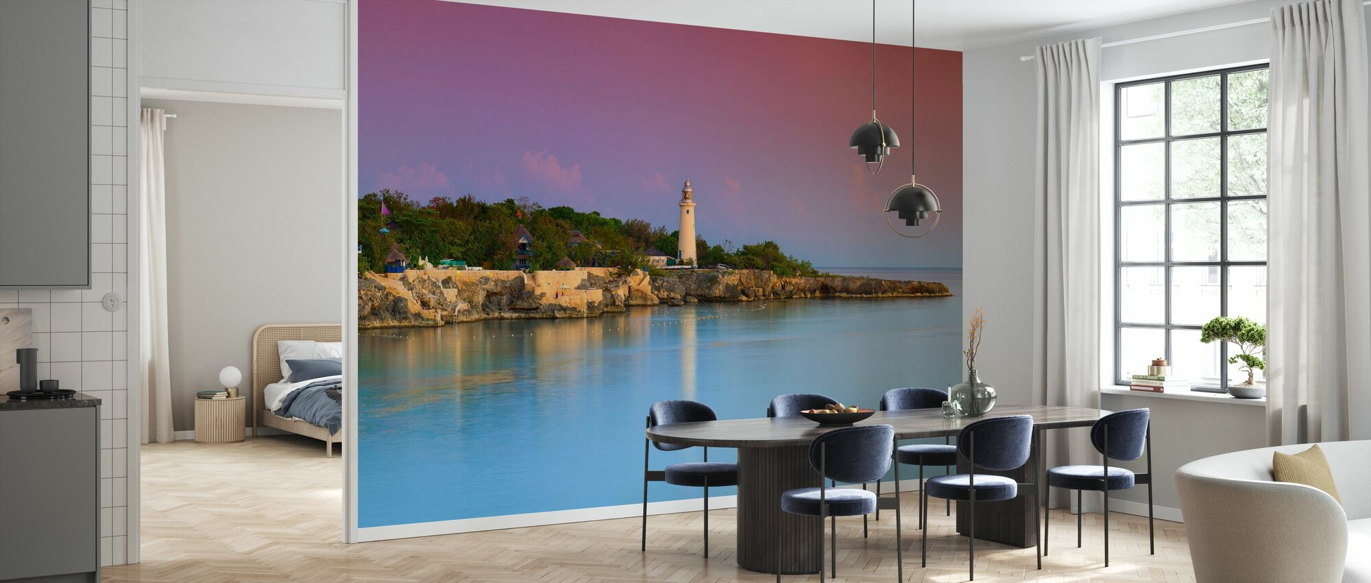 Lighthouse and Rugged Coastline - Wallpaper - Kitchen