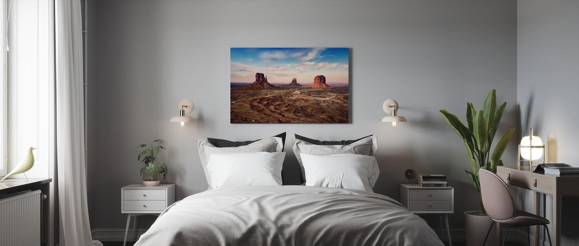 Zonsondergang boven Auburn Rocks - Canvas print - Slaapkamer