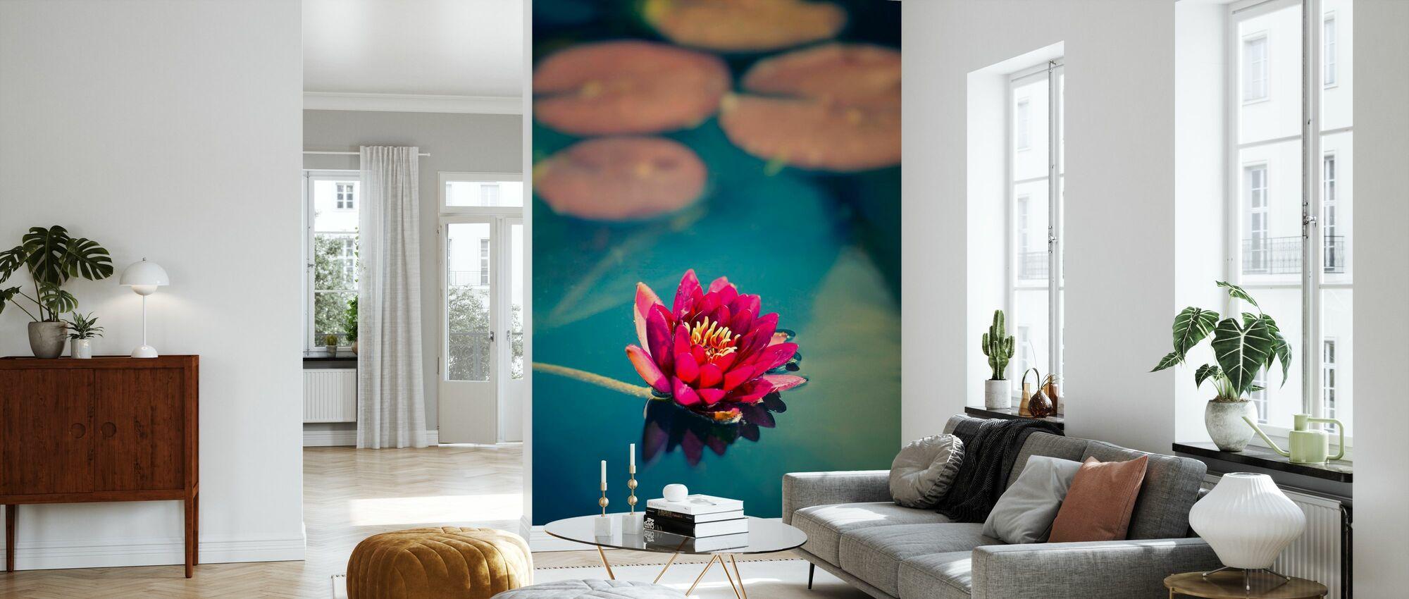 Lotus in Lake - Wallpaper - Living Room