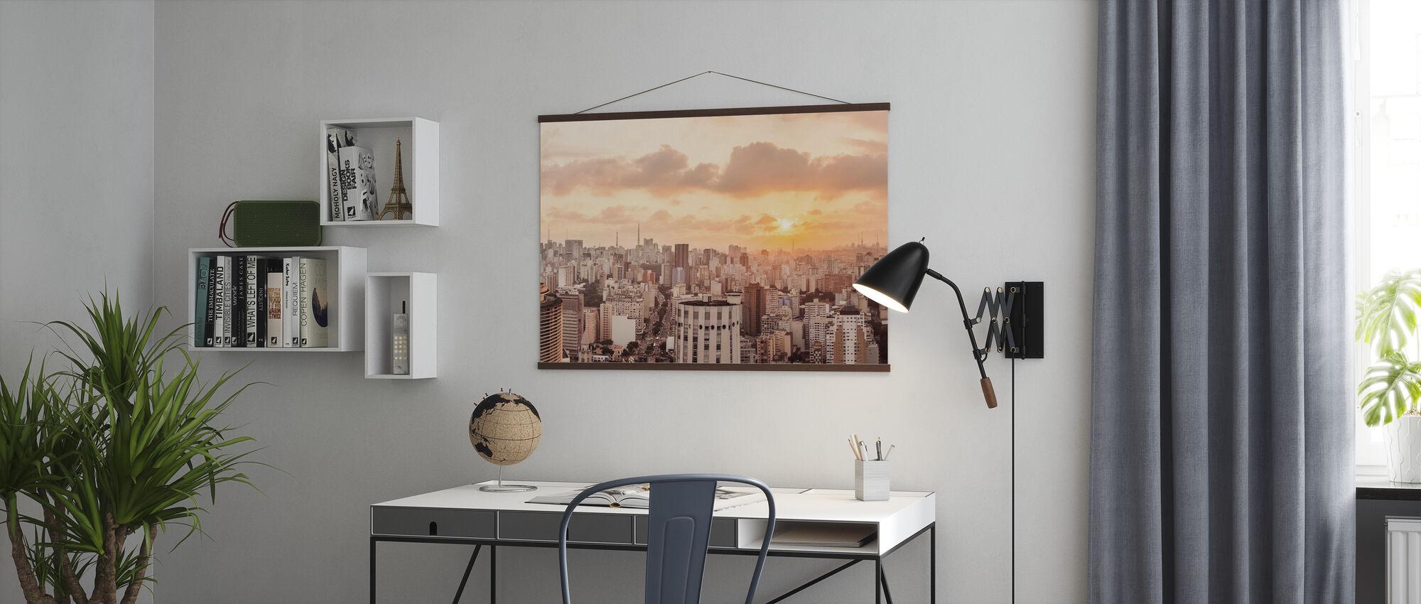Sao Paulo Sunset - Poster - Office