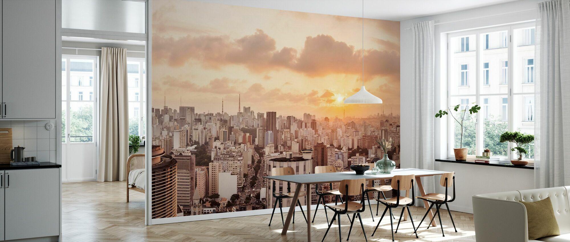 Sao Paulo Sunset - Wallpaper - Kitchen