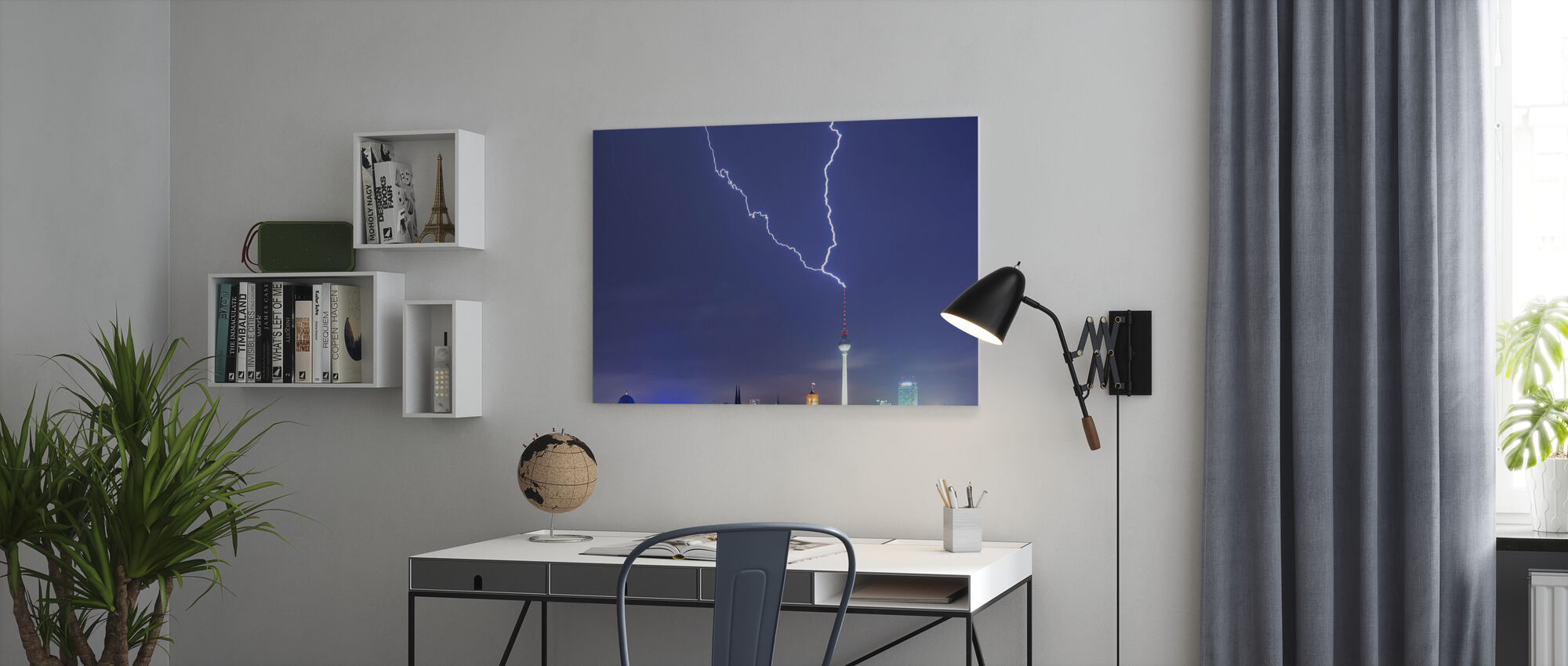 Berliini Lightningstrike - Canvastaulu - Toimisto