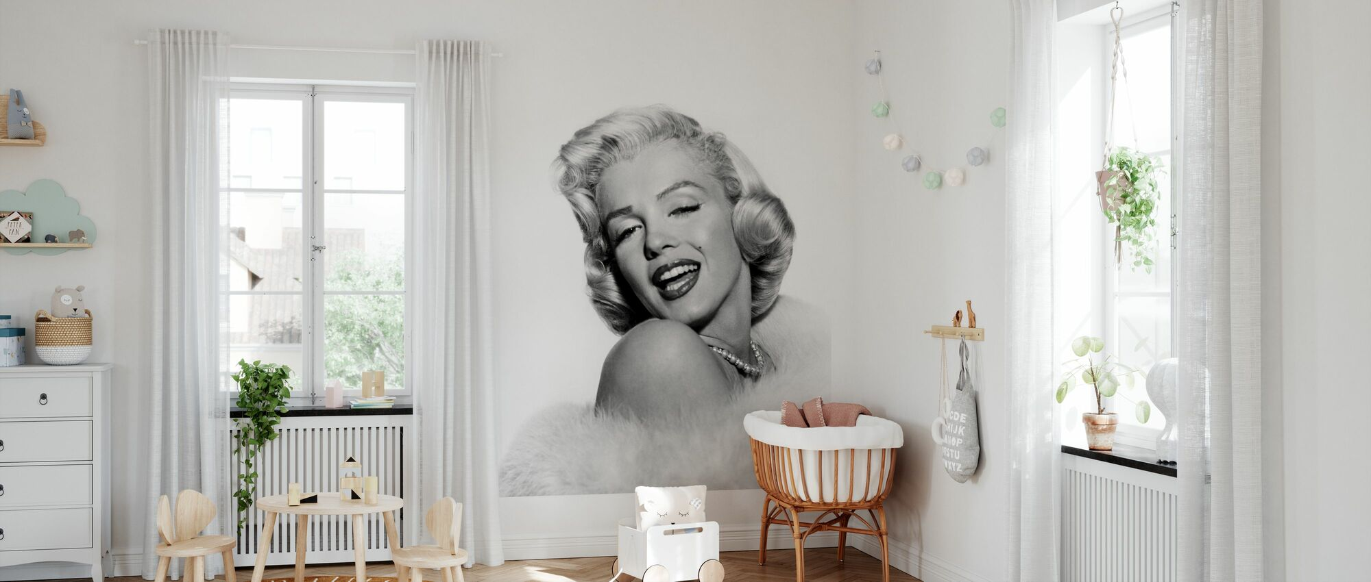 Klassiek Hollywood - Behang - Babykamer