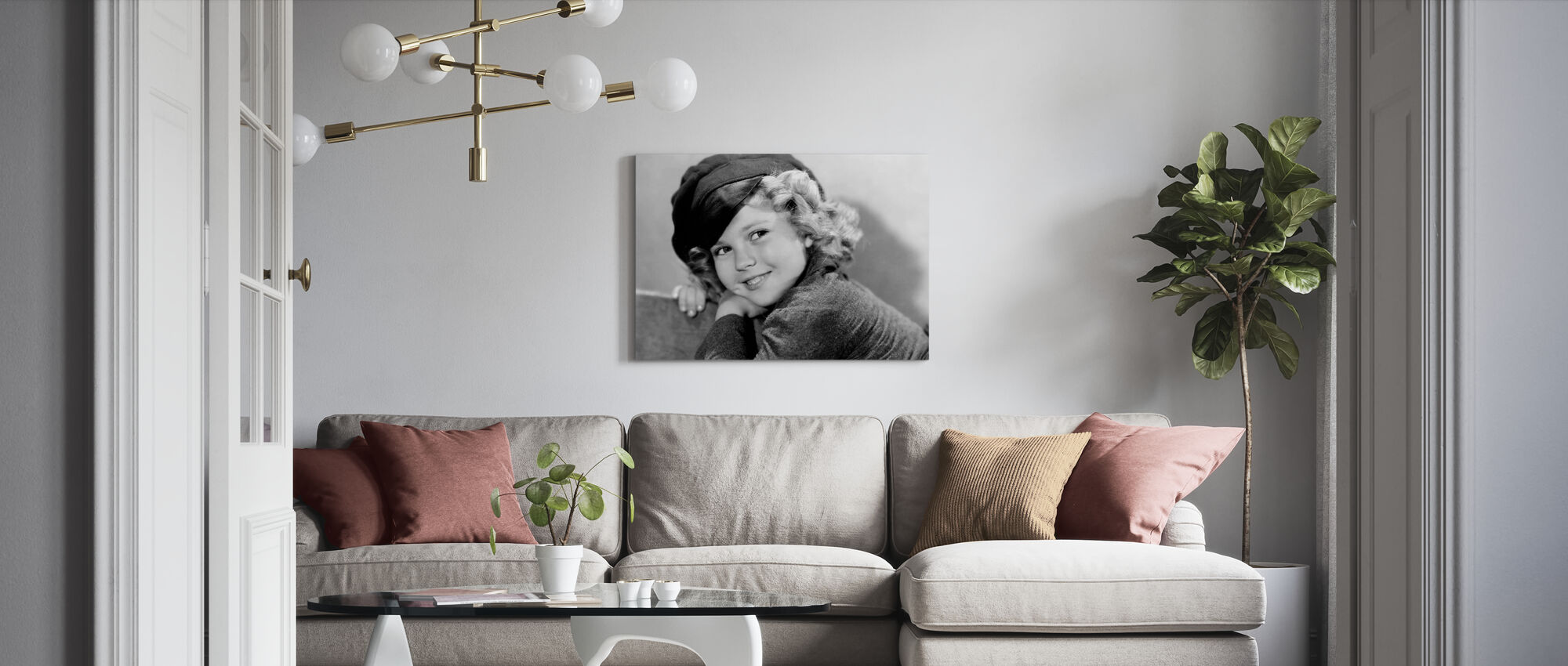 Dimples - Canvas print - Living Room