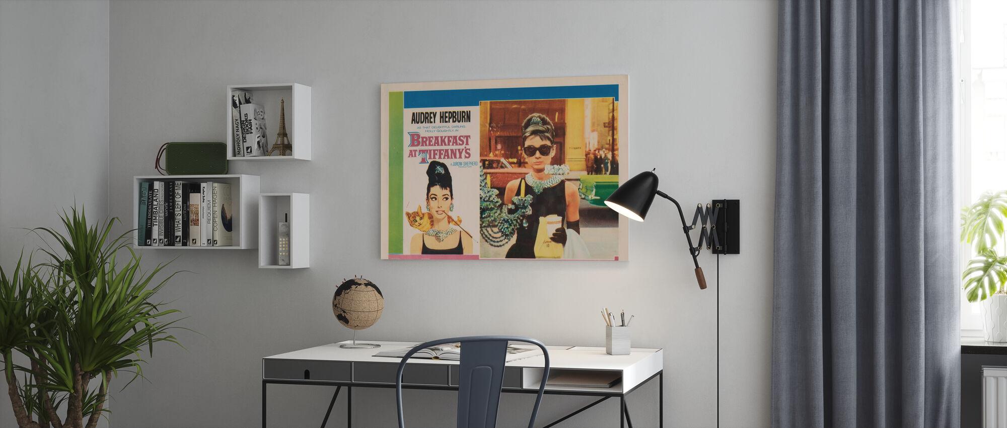 Film plakat frokost på Tiffany's - Lerretsbilde - Kontor