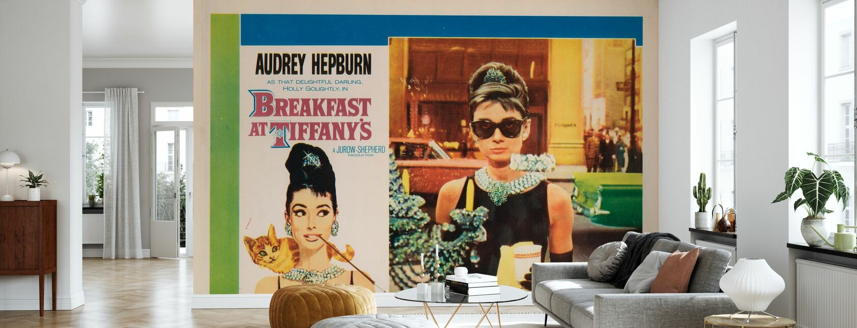 Movie Poster Breakfast at Tiffany's - Wallpaper - Living Room