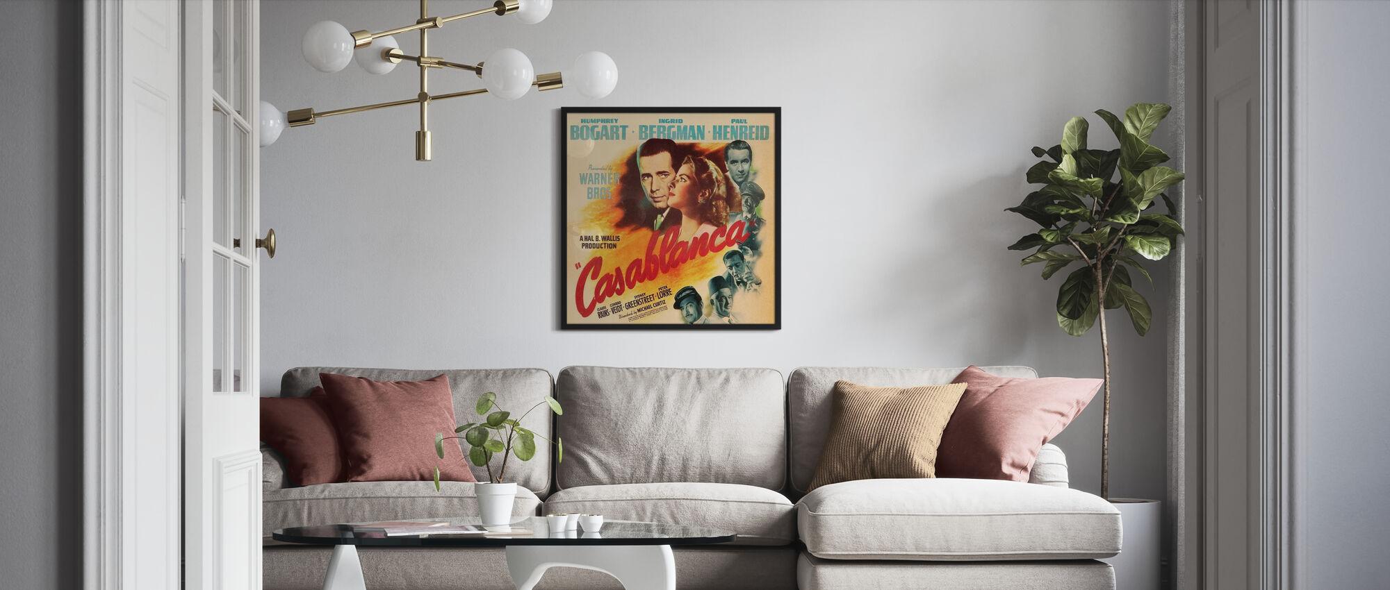 Movie Poster Casablanca - Framed print - Living Room