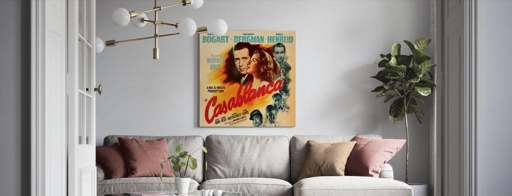 Movie Poster Casablanca - Canvas print - Living Room