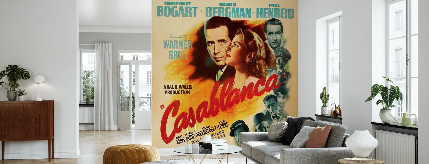 Movie Poster Casablanca - Wallpaper - Living Room