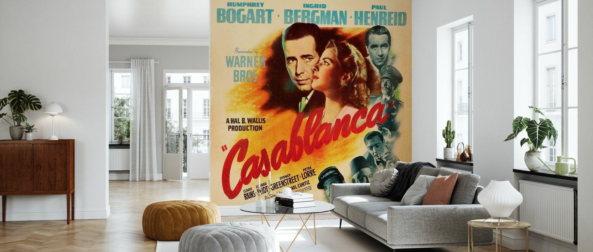 Movie Poster Casablanca - Wallpaper - Living Room