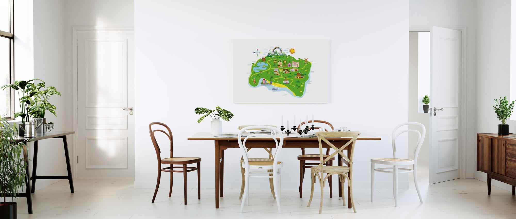 Marsh Mellow Island Kaart - Canvas print - Keuken