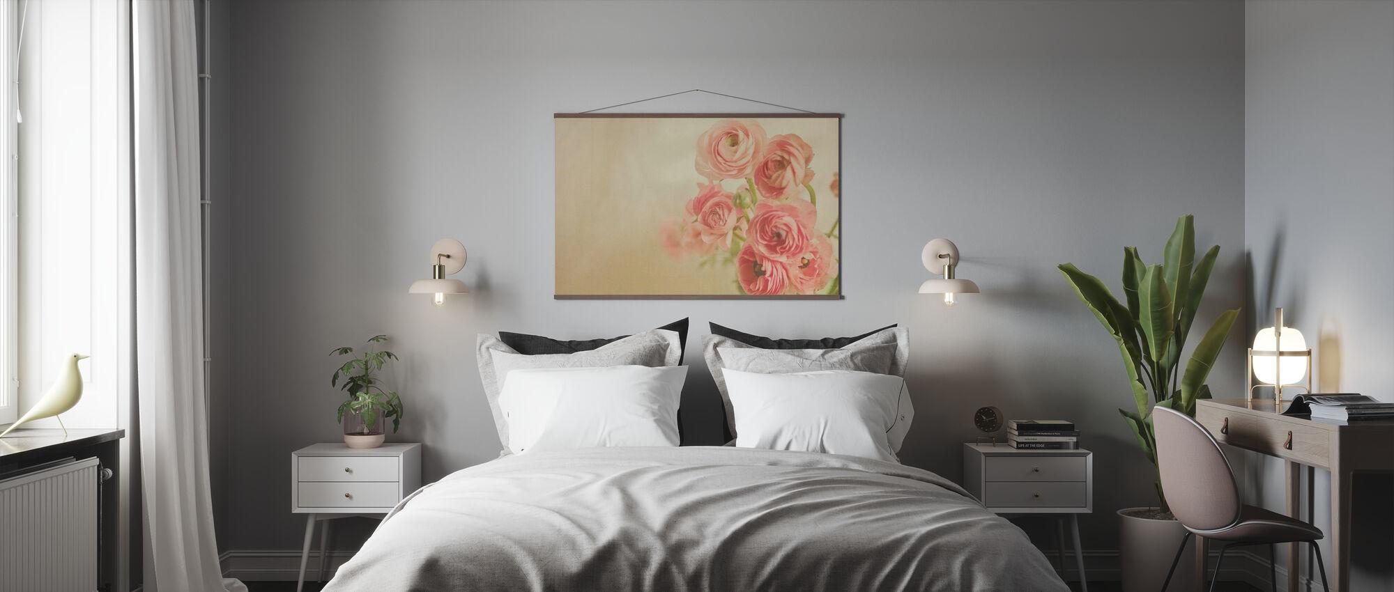 Pink Ranunculus - Poster - Bedroom