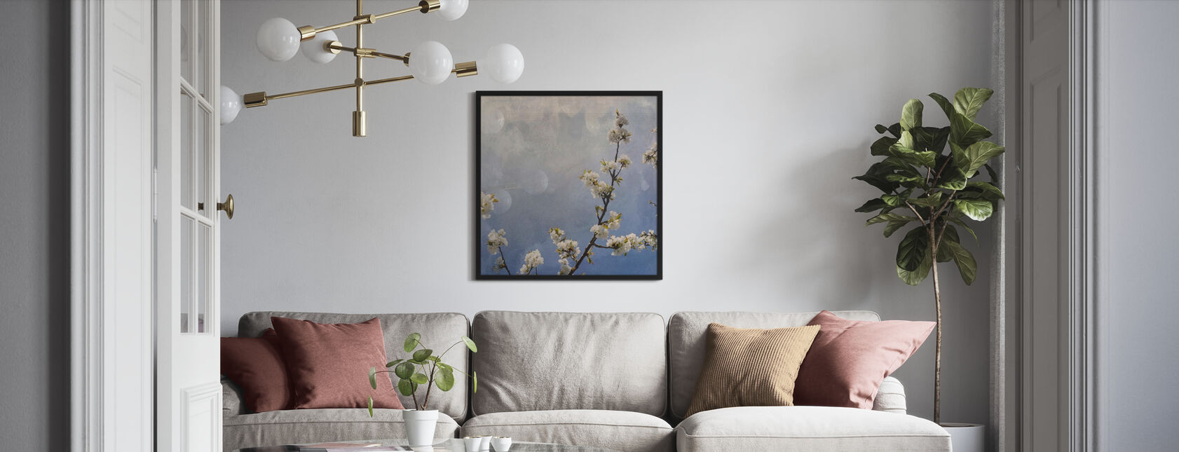 Apple Branch - Framed print - Living Room