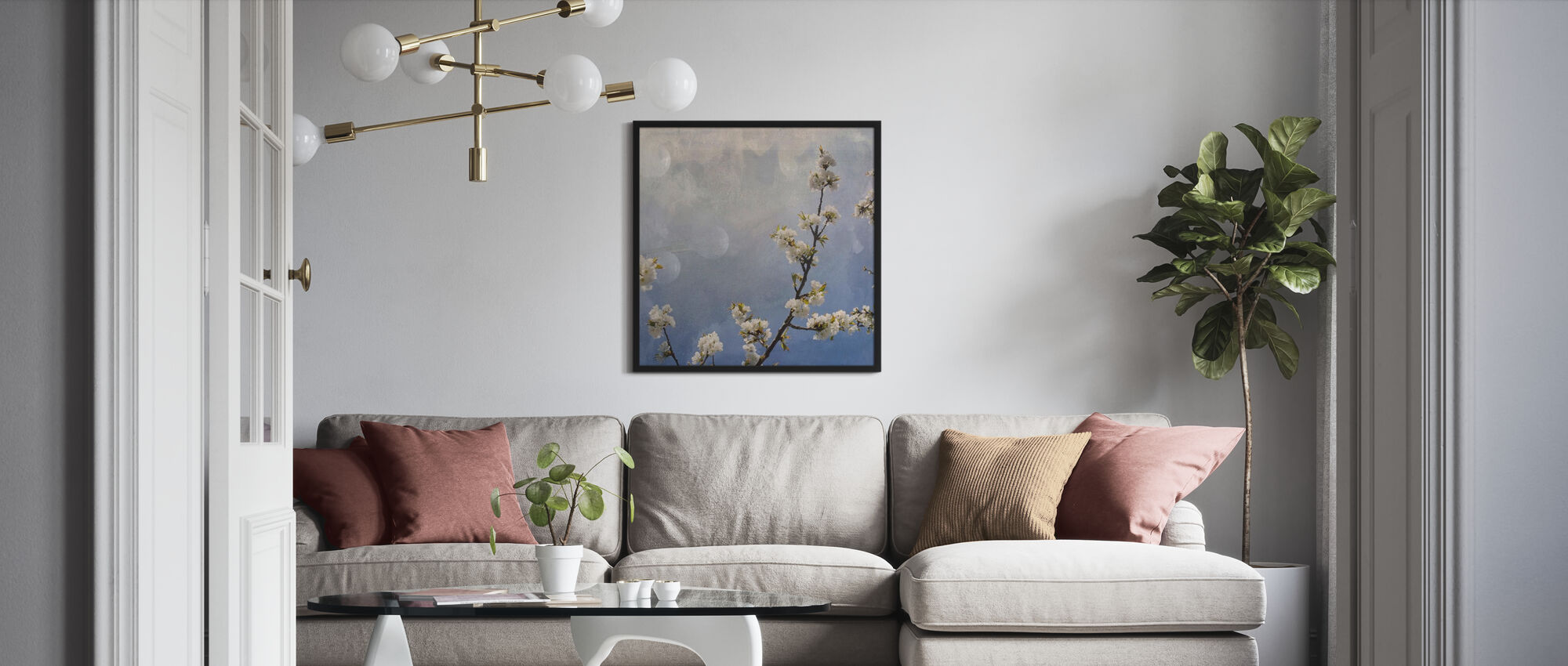 Apple Branch - Framed print - Living Room