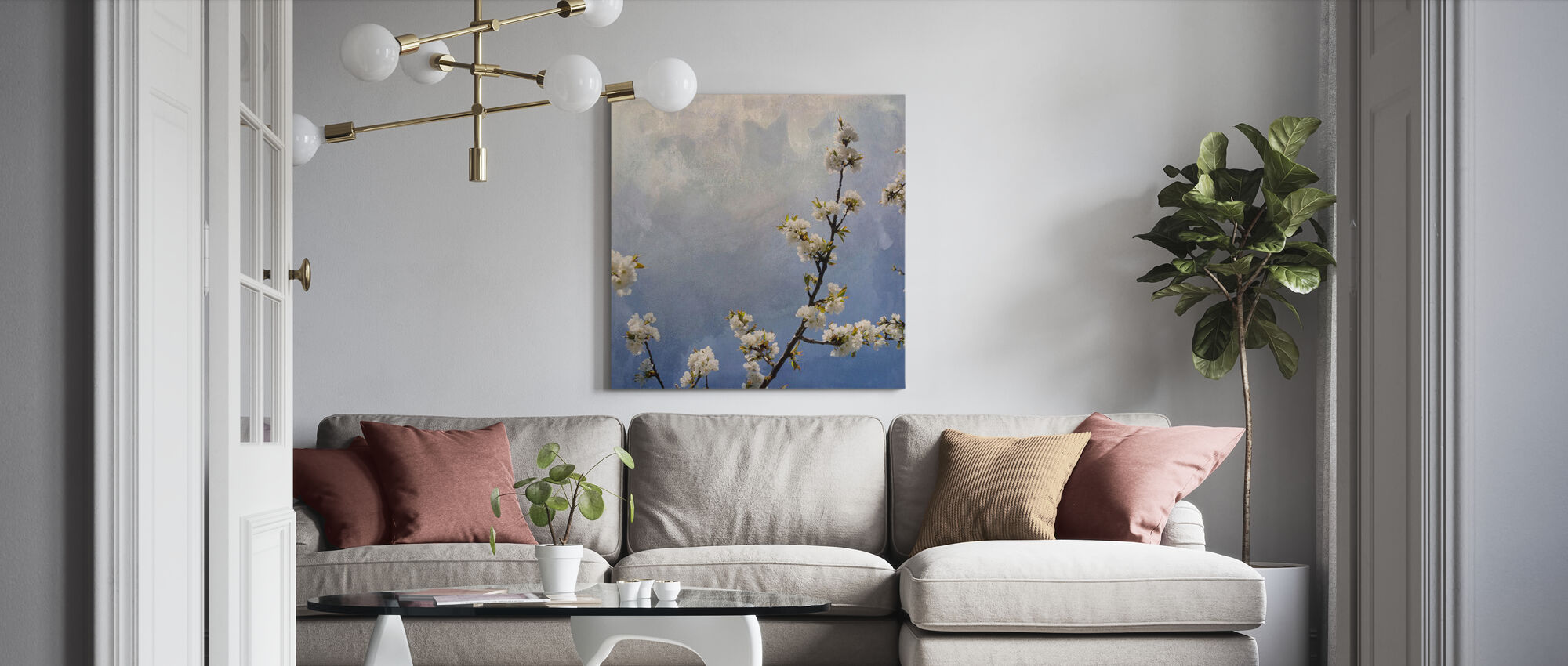 Apple Branch - Canvas print - Living Room