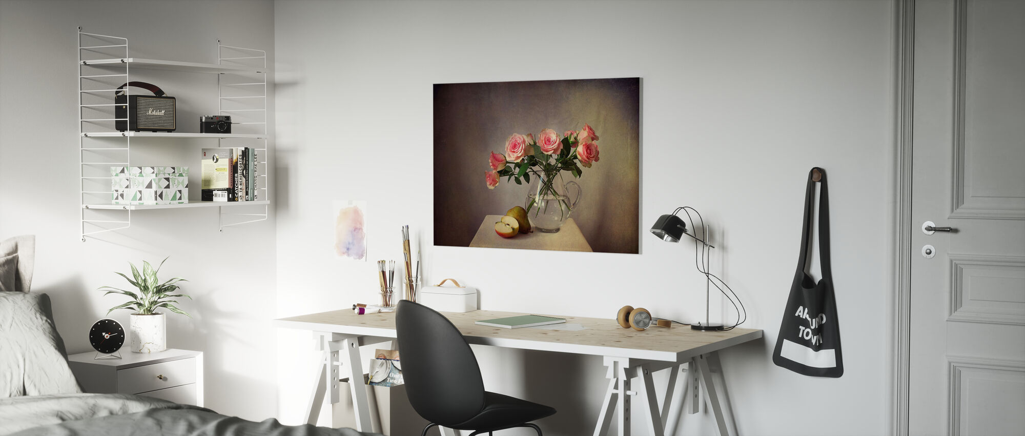 Still Life with Roses - Canvas print - Kids Room