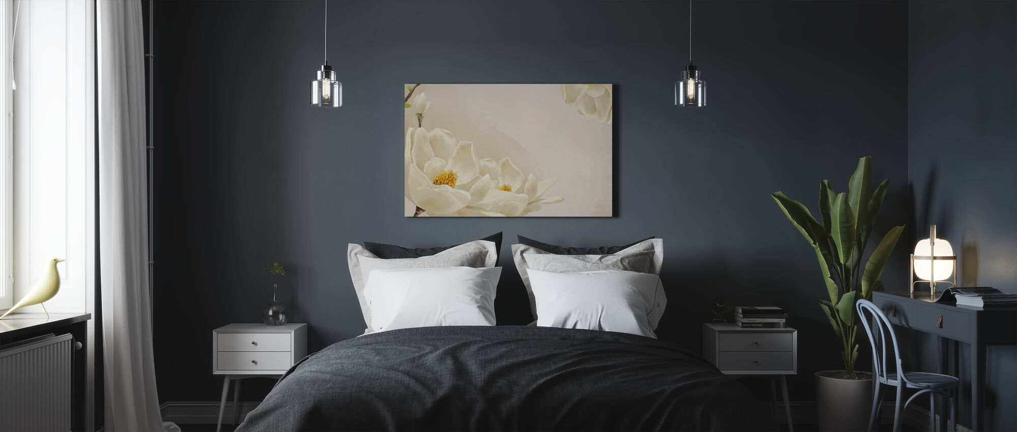 White Beauty - Canvas print - Bedroom