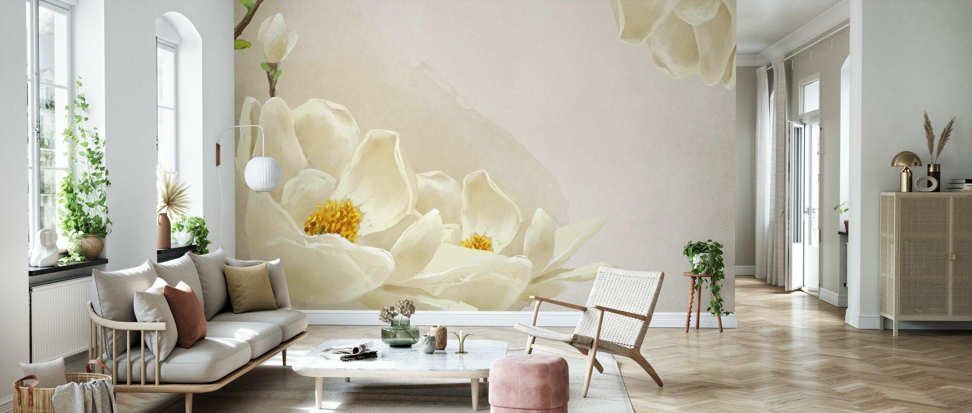 White Beauty - Wallpaper - Living Room