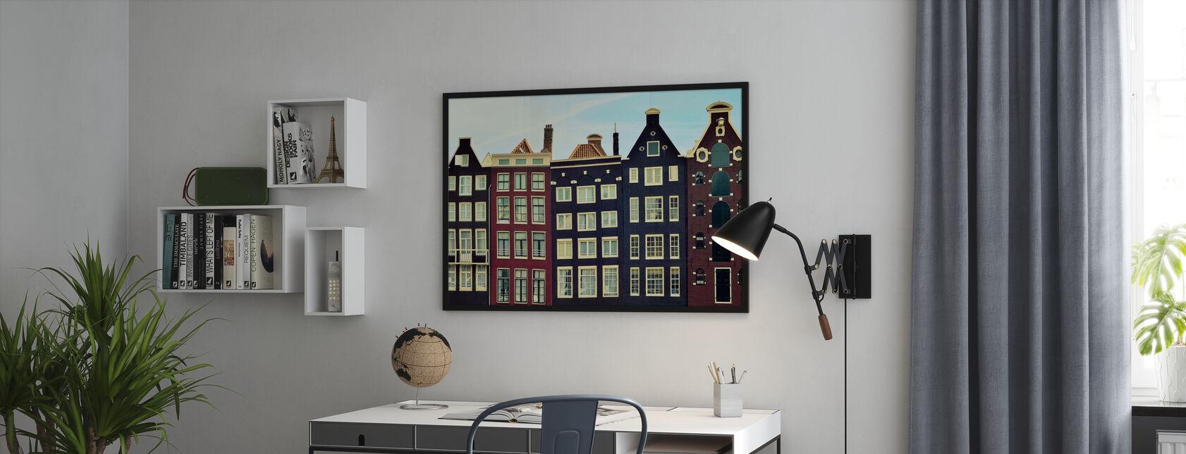 Amsterdam Häuser - Poster - Büro
