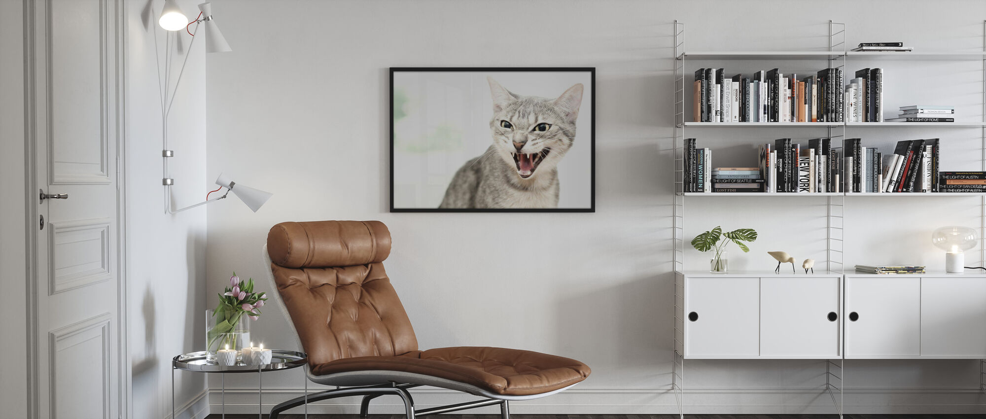 Angry Cat - Poster - Living Room