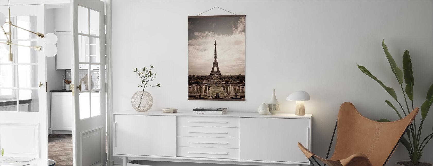 Eiffeltoren gezien vanuit Palais de Chaillot - Poster - Woonkamer
