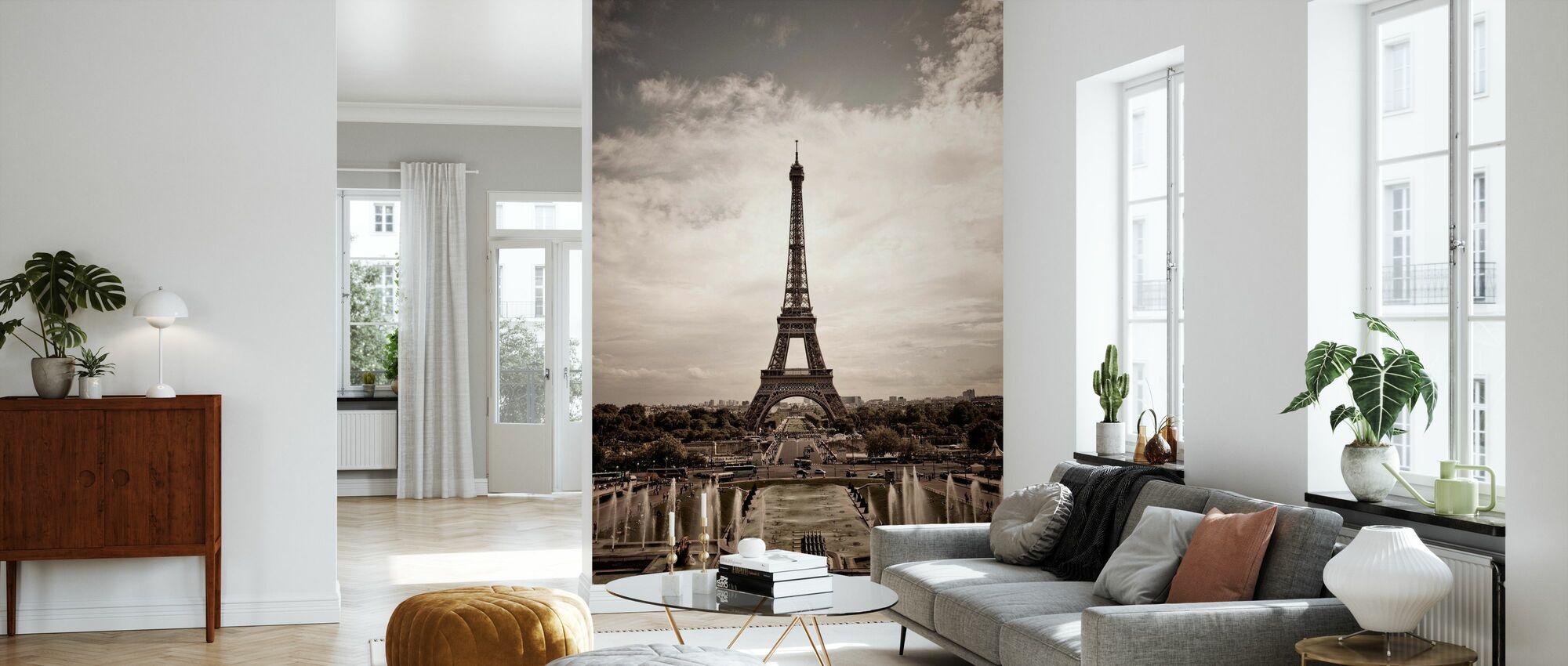 Eiffel Tower Seen From Palais de Chaillot - Wallpaper - Living Room