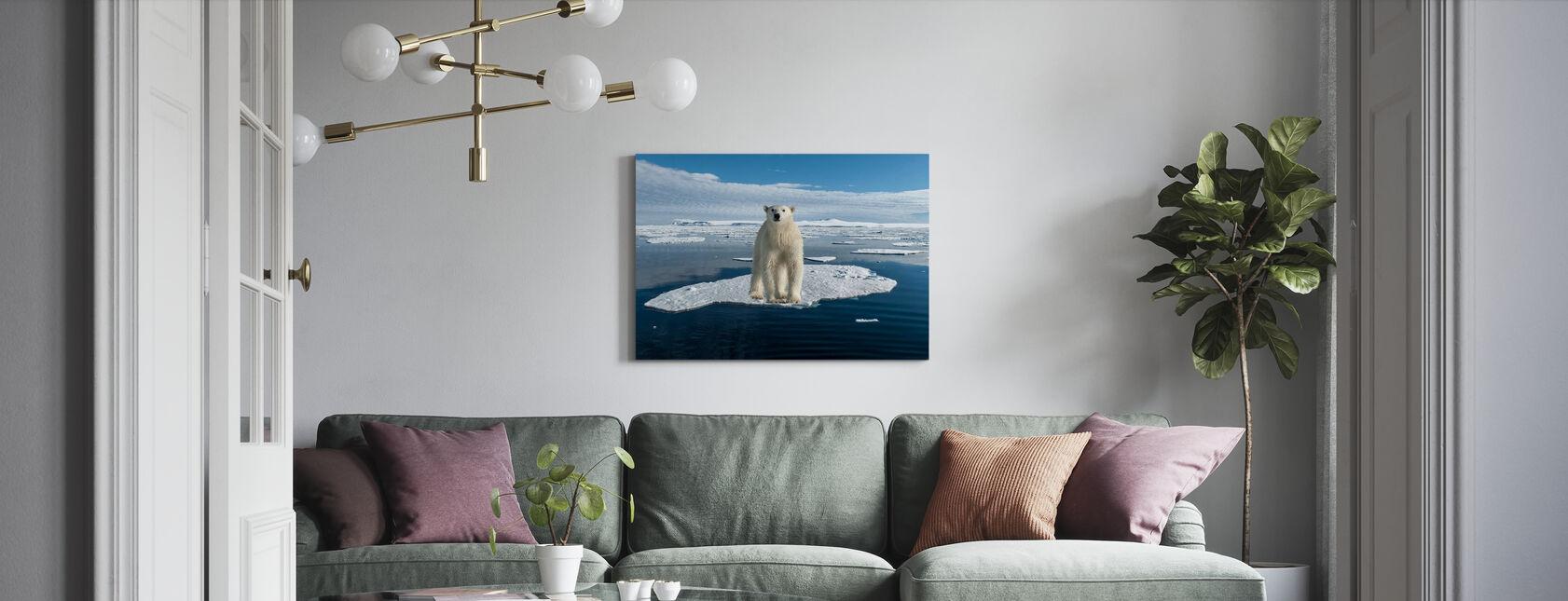 På tunn is - Canvastavla - Vardagsrum