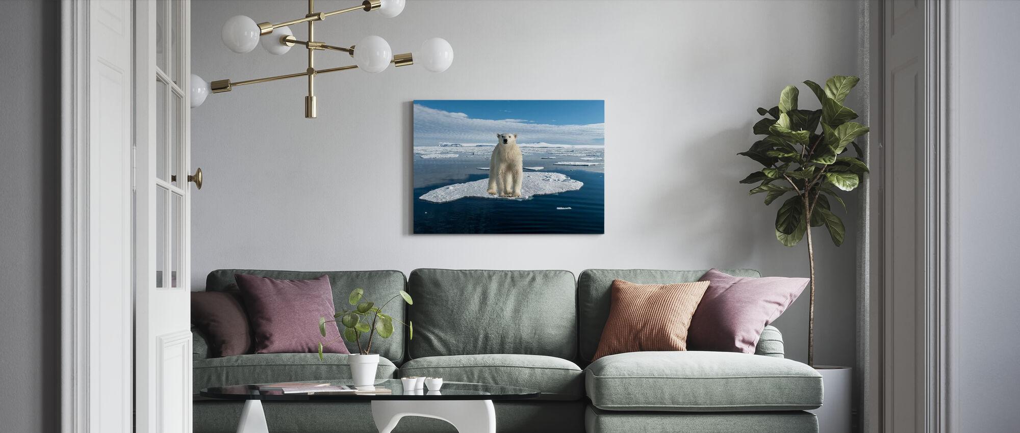 On Thin Ice - Canvas print - Living Room