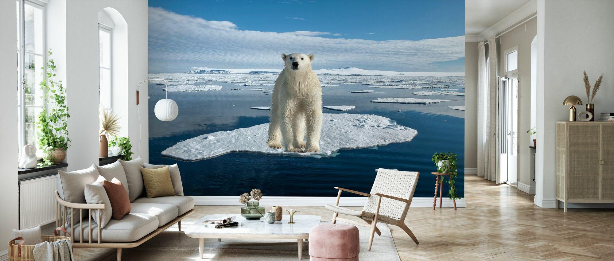Op dun ijs - Behang - Woonkamer