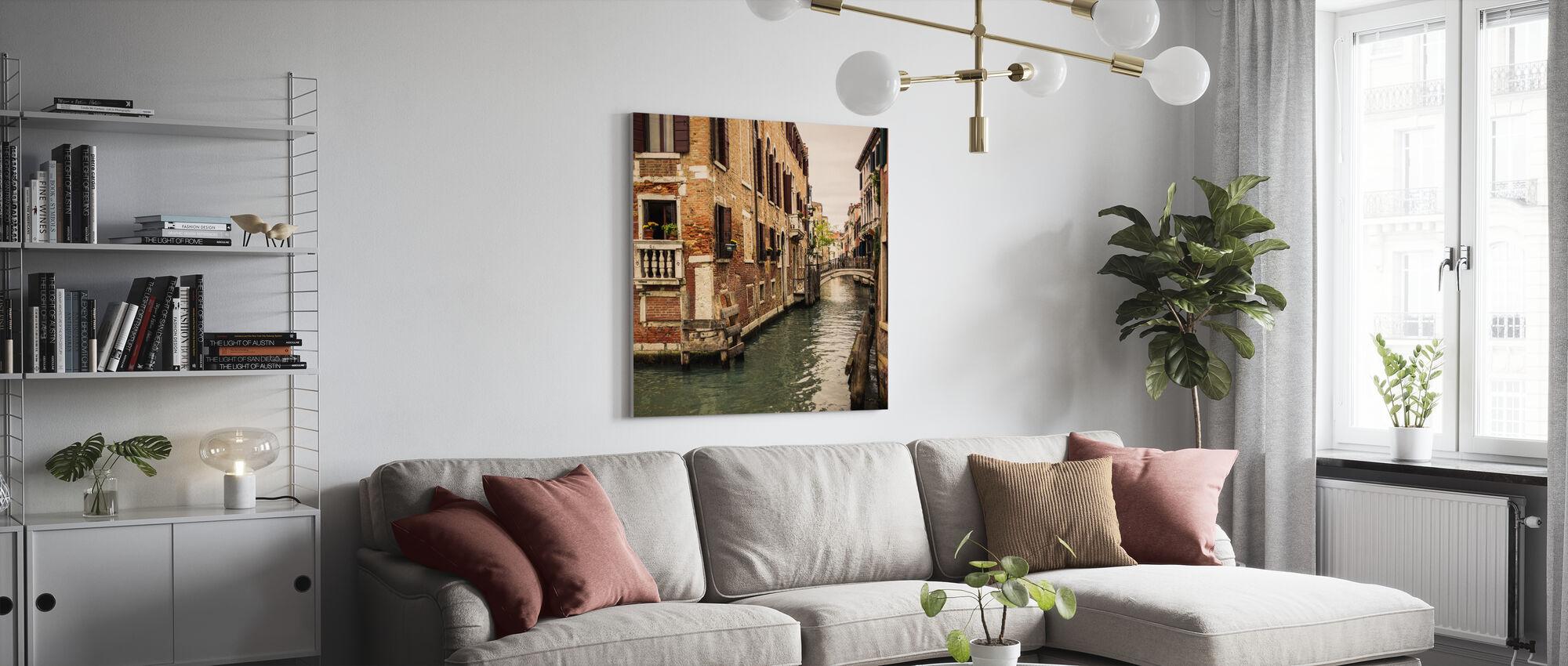 Bricks and Bridges in Venice - Canvas print - Living Room