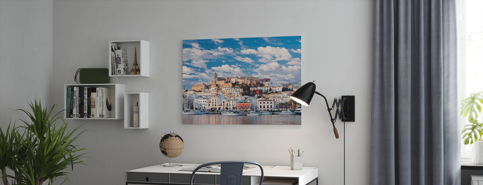 Ibiza Town - Canvas print - Office