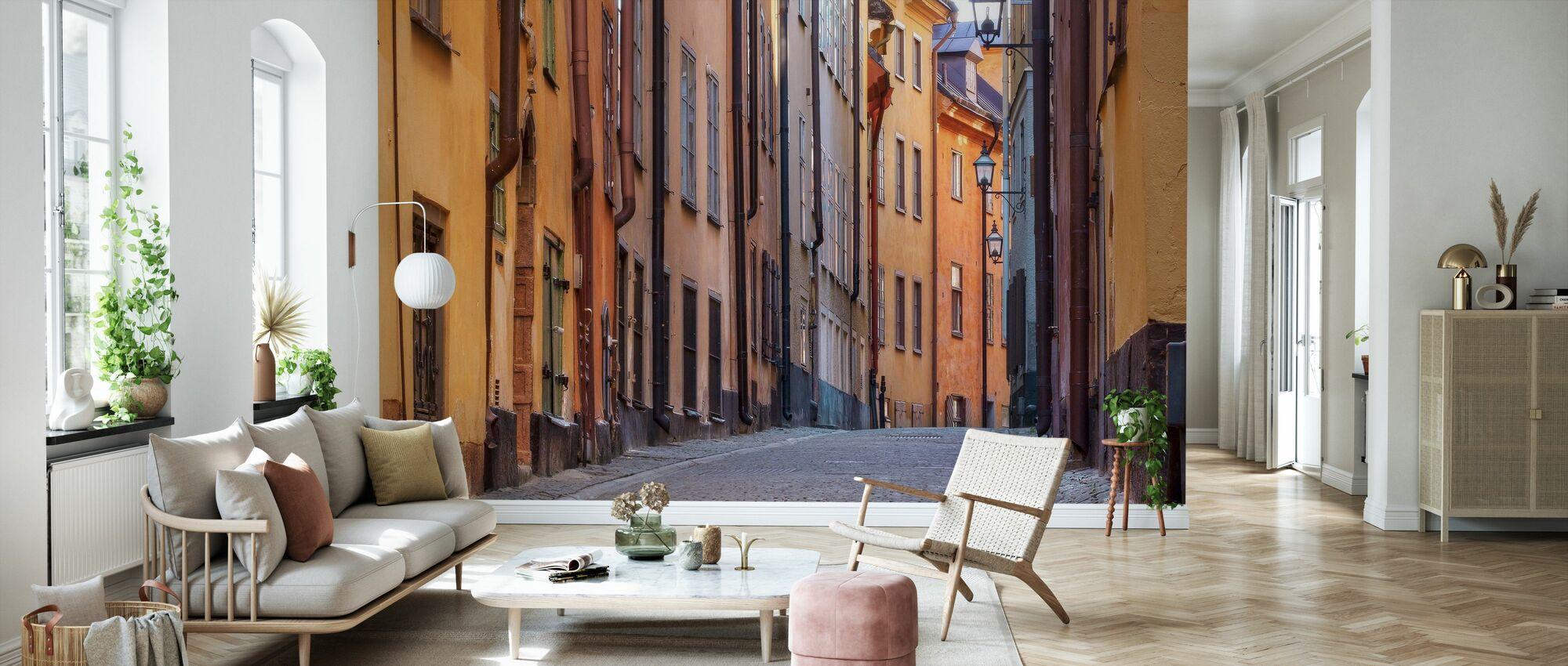 Gata i Stockholm Gamla Stan - Tapet - Vardagsrum