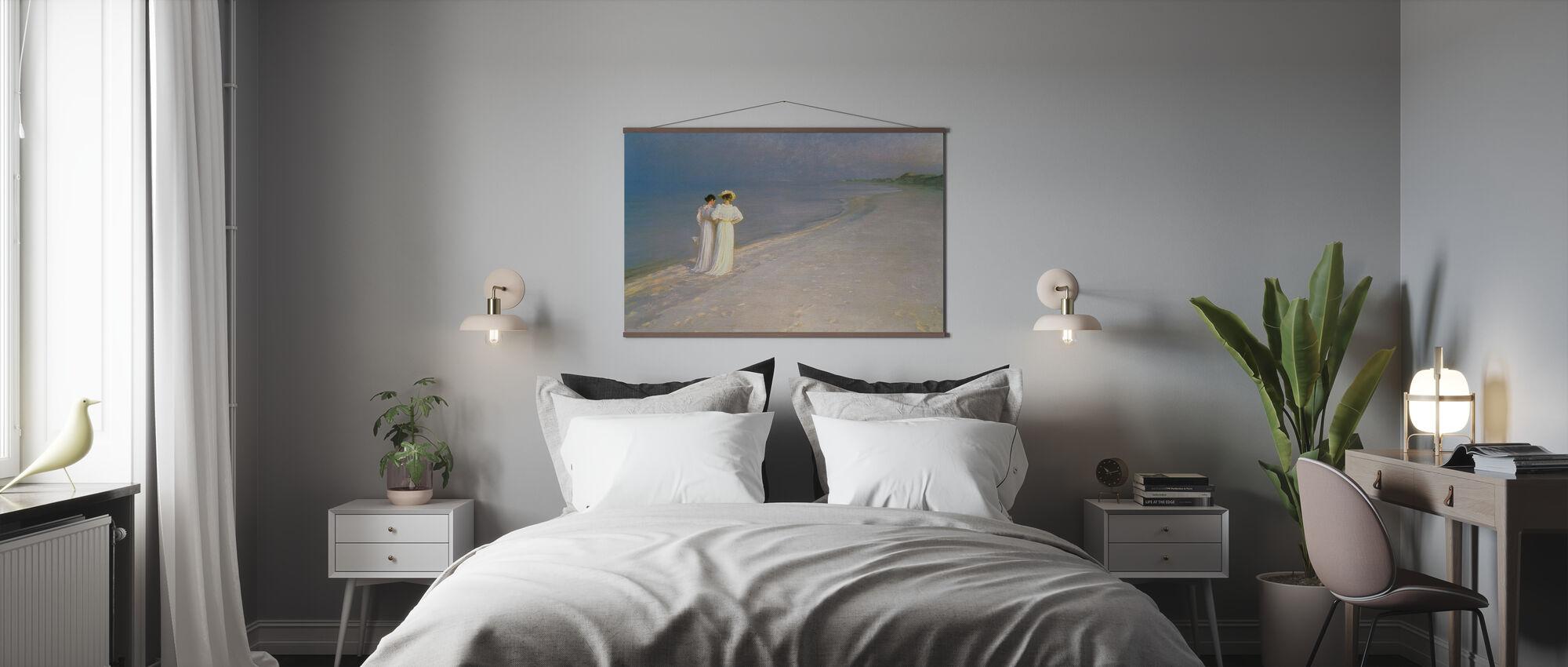 Sommerabend am Skagen Südstrand mit Anna Ancher und Marie Kroyer - Peder Severin Kroyer - Poster - Schlafzimmer