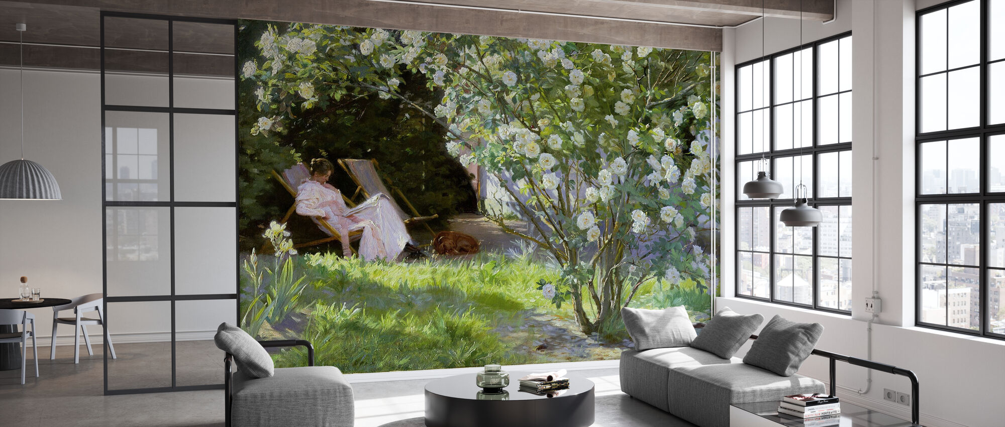 The Artist's Wife in the Garden at Skagen - Peder Severin Kroyer - Wallpaper - Office