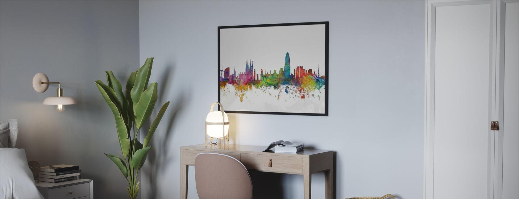 Skyline von Barcelona - Poster - Schlafzimmer