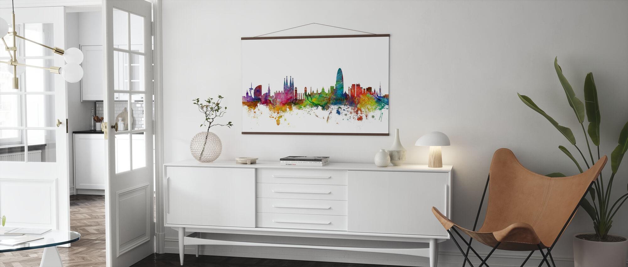 Skyline von Barcelona - Poster - Wohnzimmer