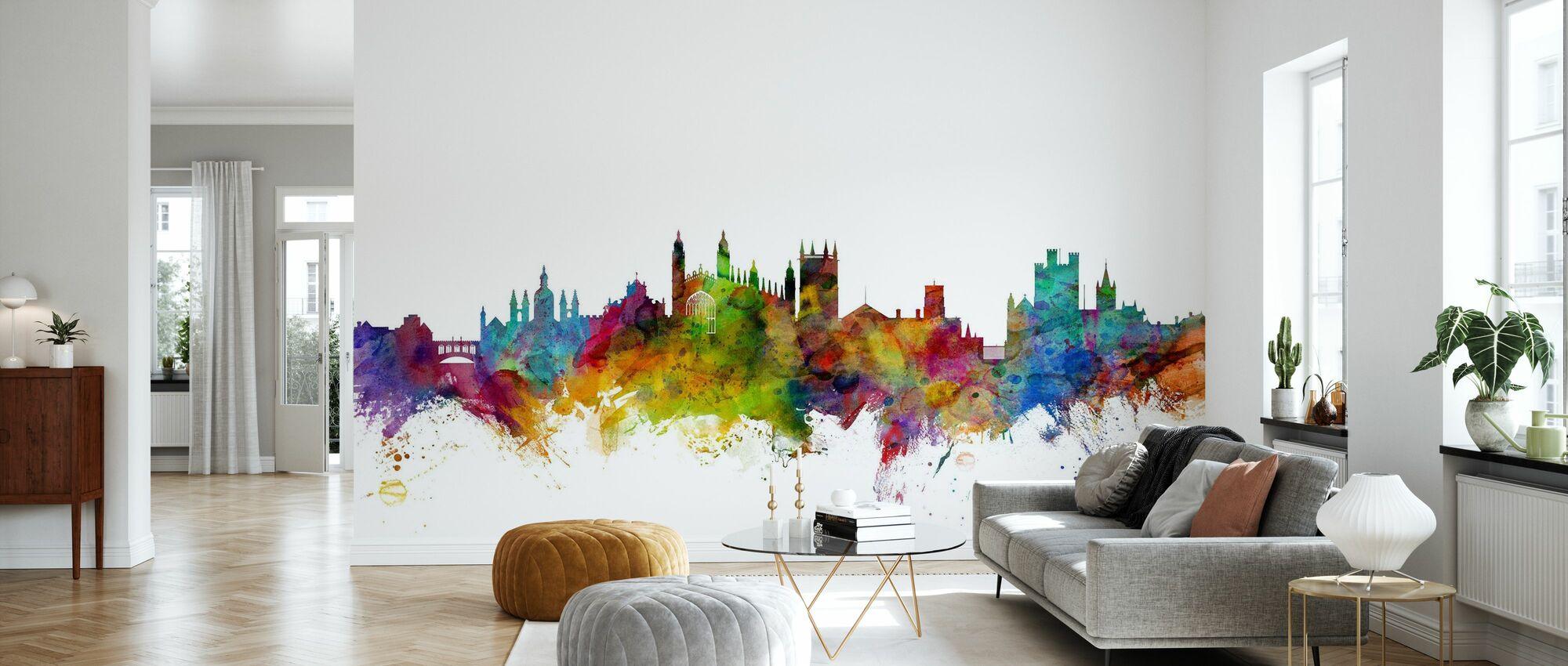 Cambridge Skyline - Wallpaper - Living Room