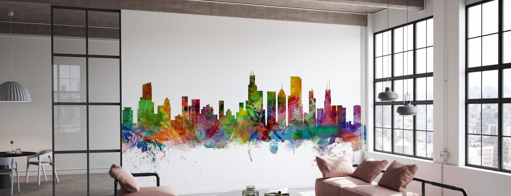 Chicago Skyline - Wallpaper - Office