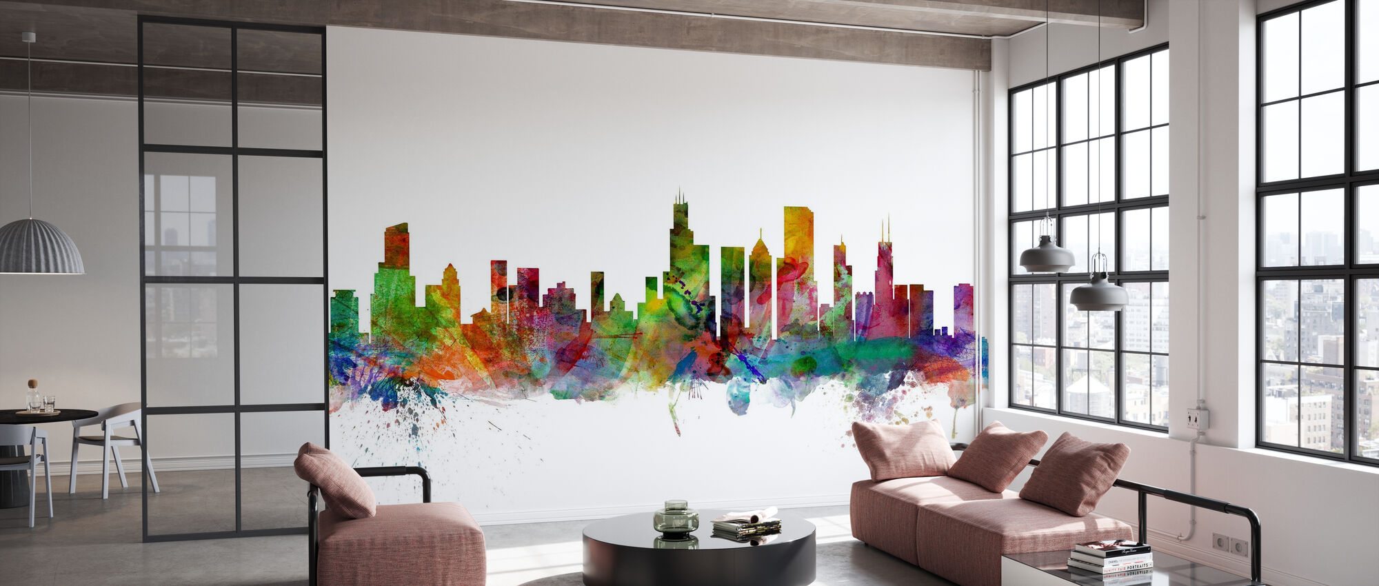 Chicago Skyline - Wallpaper - Office