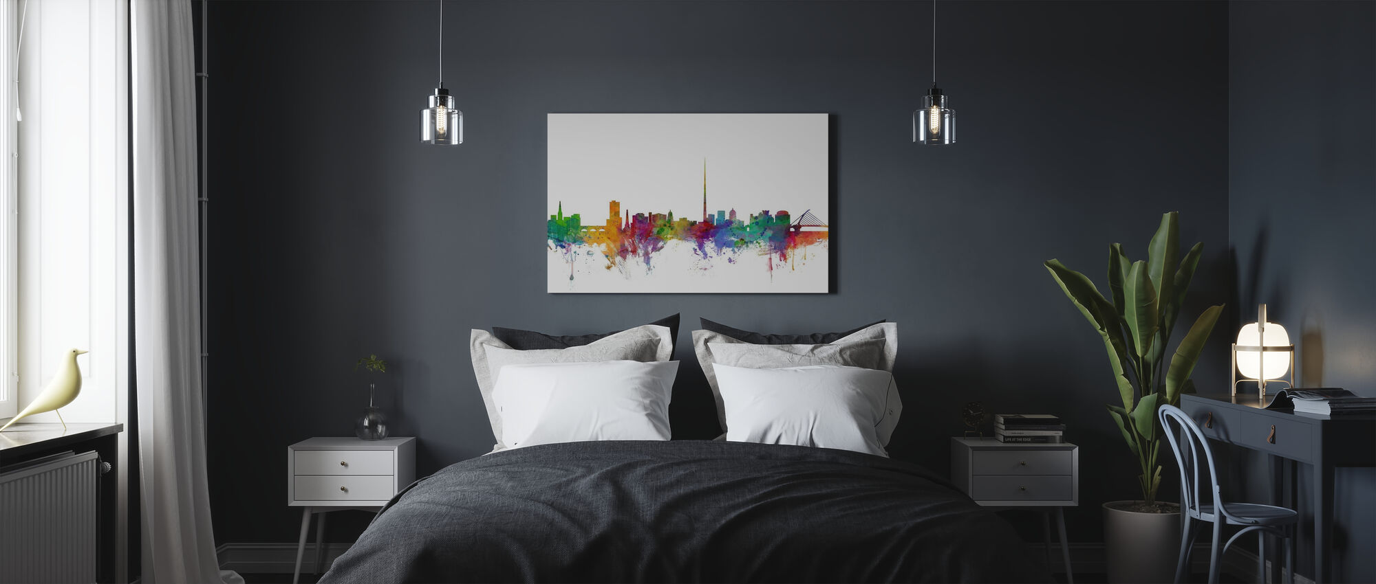 Dublin Skyline - Canvas print - Bedroom
