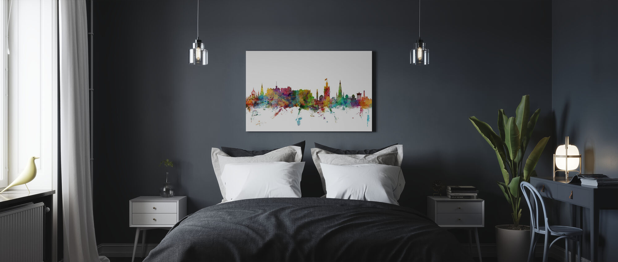 Edinburgh Skyline - Canvas print - Bedroom