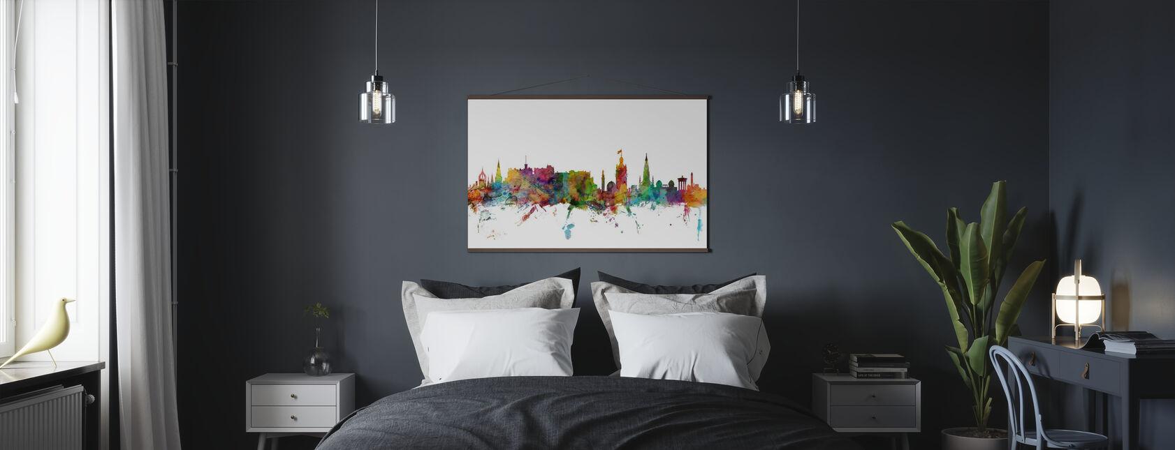 Edinburgh Skyline - Poster - Bedroom