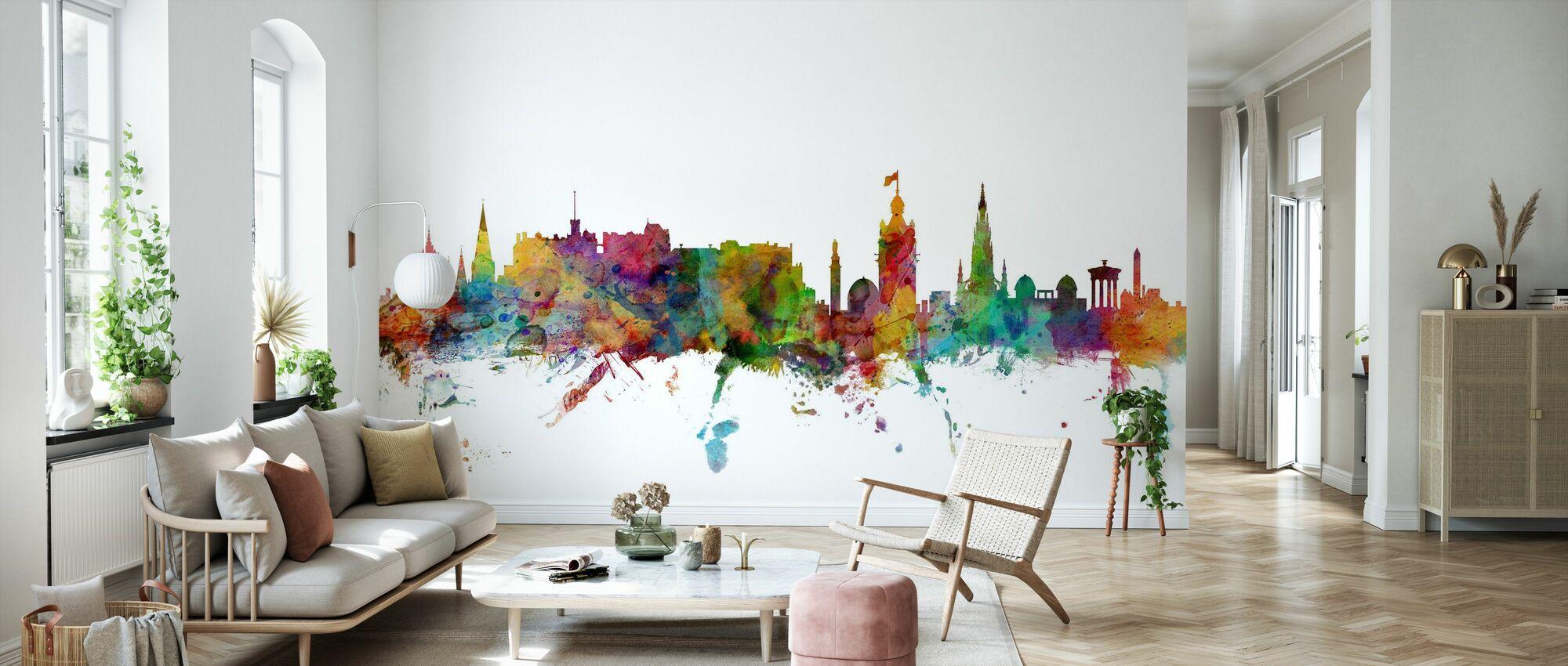 Skyline de Edimburgo - Papel pintado - Salón