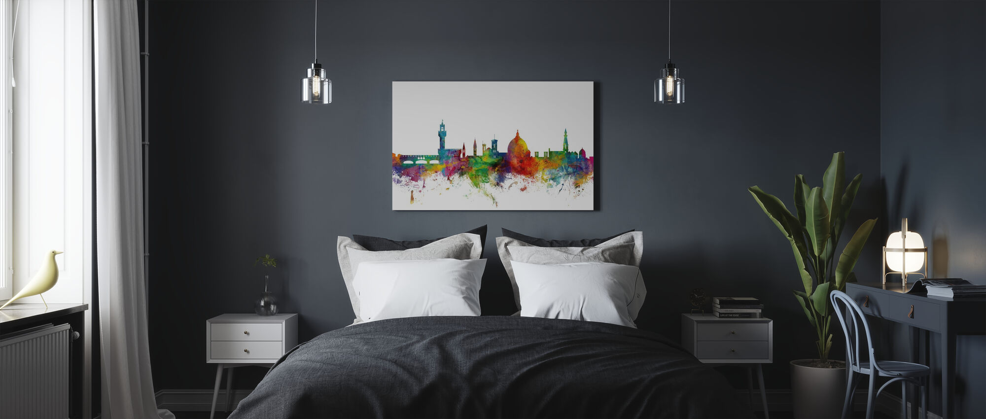 Florence Skyline - Canvas print - Bedroom