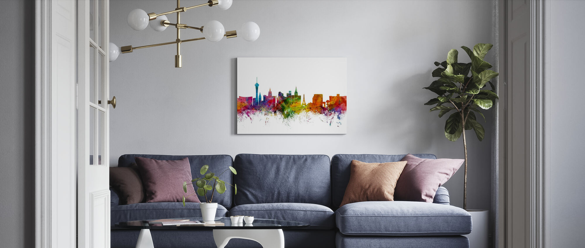Las Vegas Skyline - Canvas print - Living Room